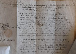 Justice's warrant re William CLARK 1589-43 v.2 27-Mar-14