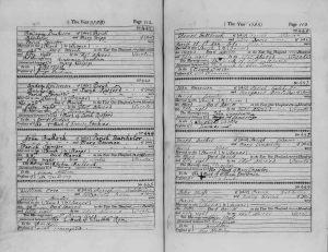 Westminster Marriage Register 1758