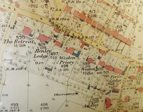 1885 OS Map 1 to 2500 Detail (Bath Record Office)