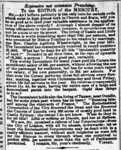 Lincoln, Rutland and Stamford Mercury 13 January 1854 re WHEELWRIGHT Rev.