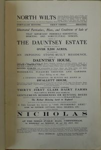 1913 Sale Particulars for Dauntsey House