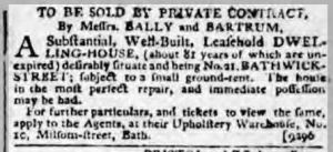 1807 Bally & Bartrum Bath Chronicle 15 Oct