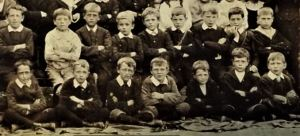 Some of the boys at Boscombe British Schools in the 1890s (By kind permission of Dorset History Centre)