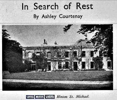 1941 In Search of Rest - East Close Hotel Find My Past - Illustrated Sporting and Dramatic News 14 March 1941